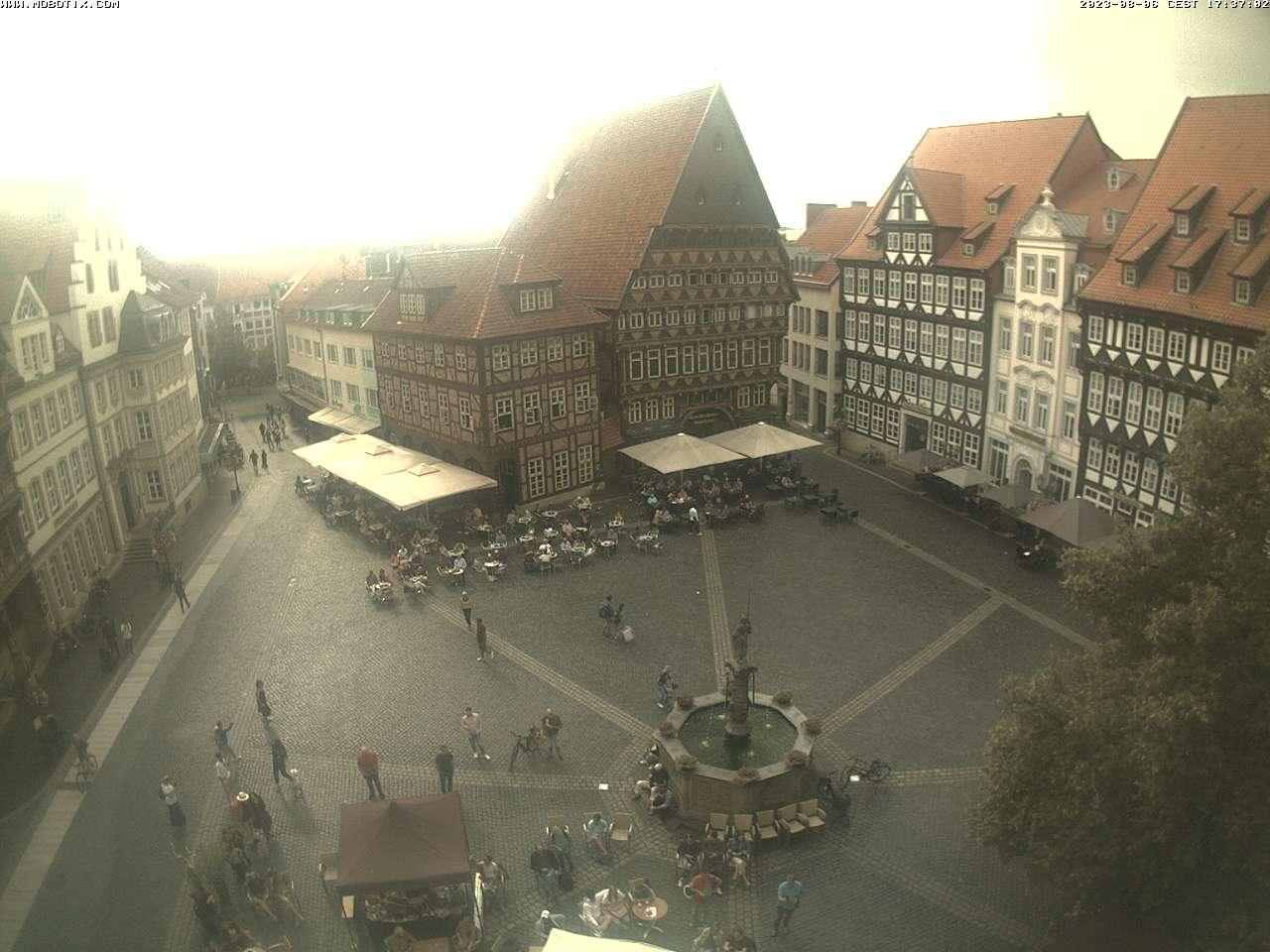 Die Webcam am Hildesheimer Marktplatz